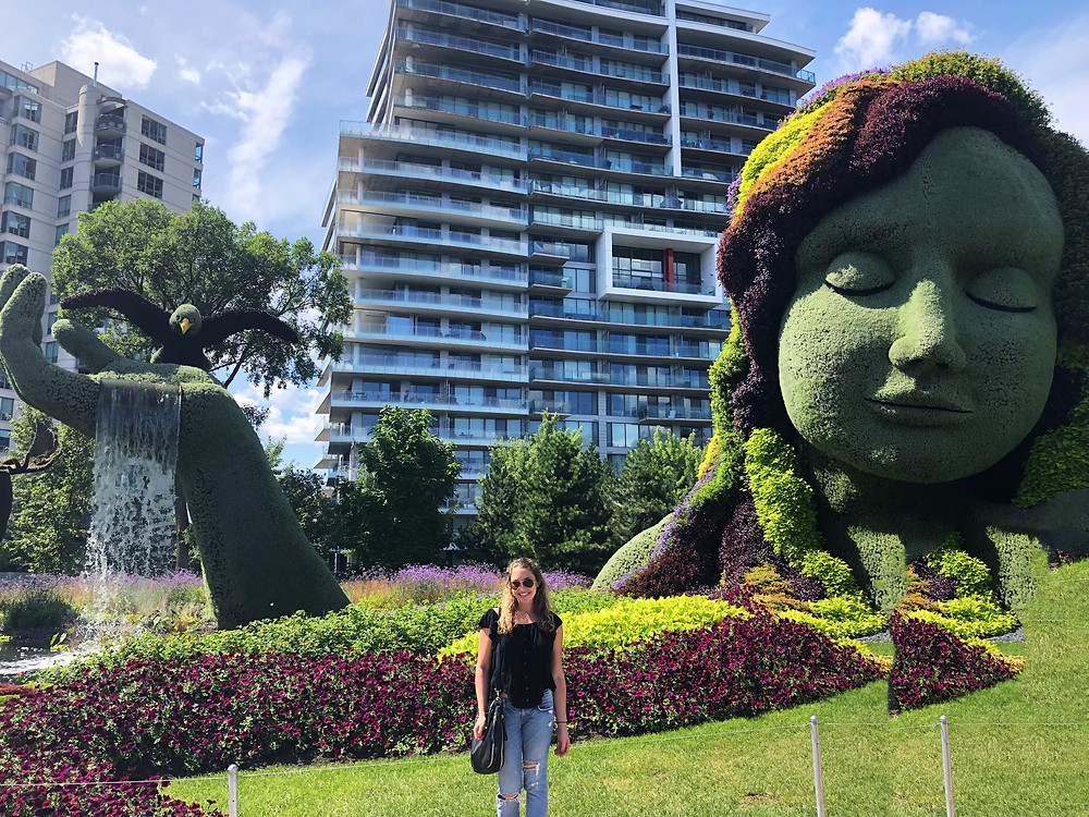 Mother Earth plant sculpture