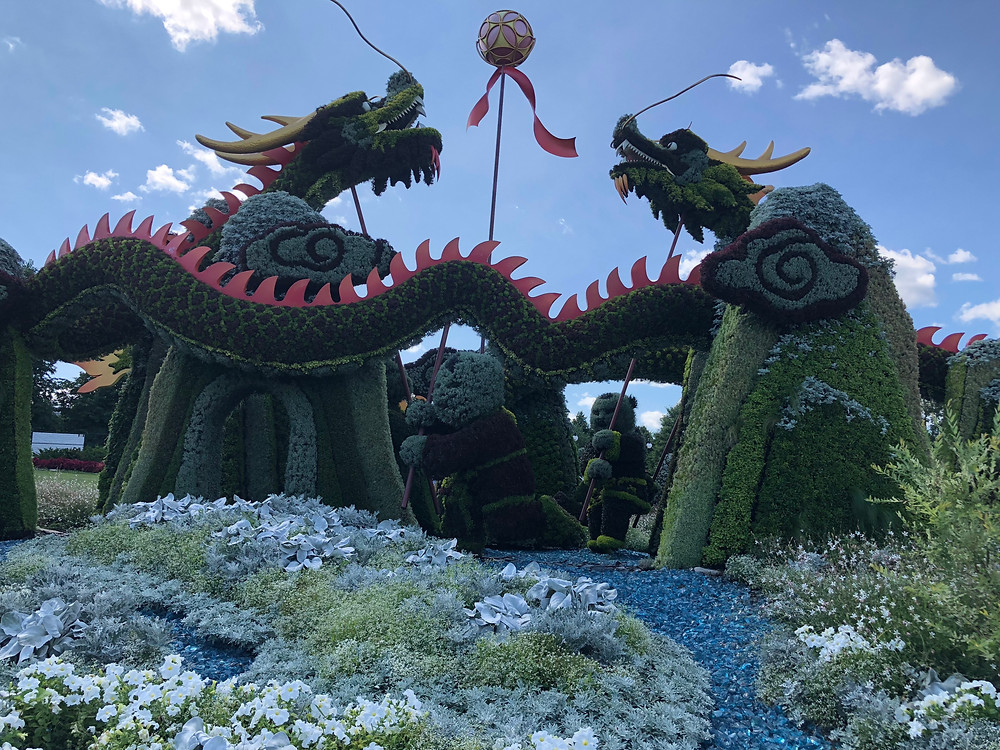 Mosaiculture Dragon Sculptures
