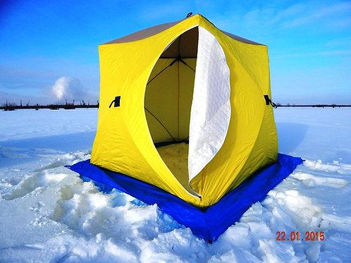 Палатка зимняя СТЭК КУБ-2 Oxford 300 (трехслойная) утепленная