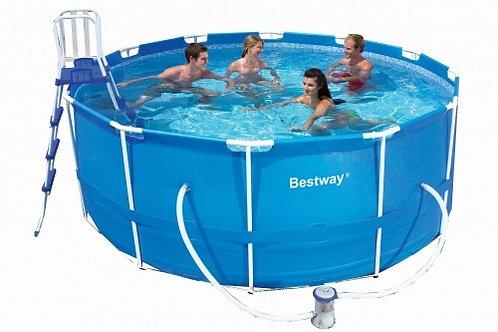 Каркасный бассейн 366х122 см, 10250л, фильтр-насос 2006л/ч, тент, лестница