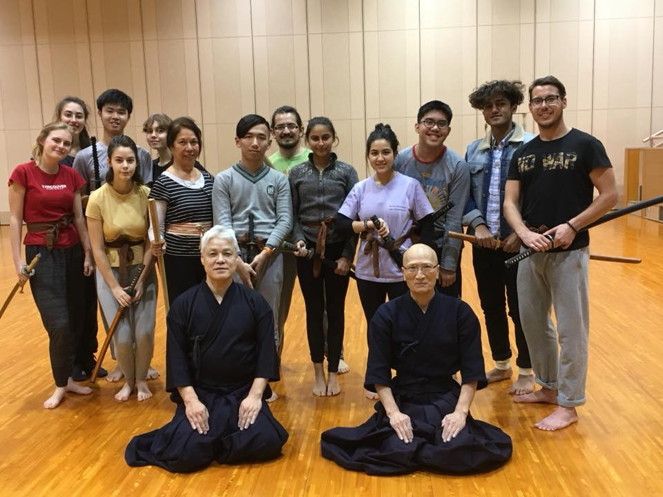 Students and I posing after our first Kendo class in Hiroshima, Japan.
