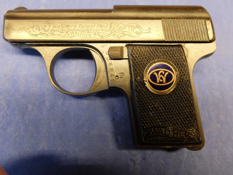 Walther mod. 9 Engraved