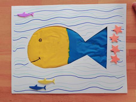 Les petits poissons bicolores