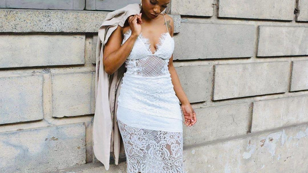 Camille Tiered Lace Dress