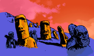 Zombies On Easter Island