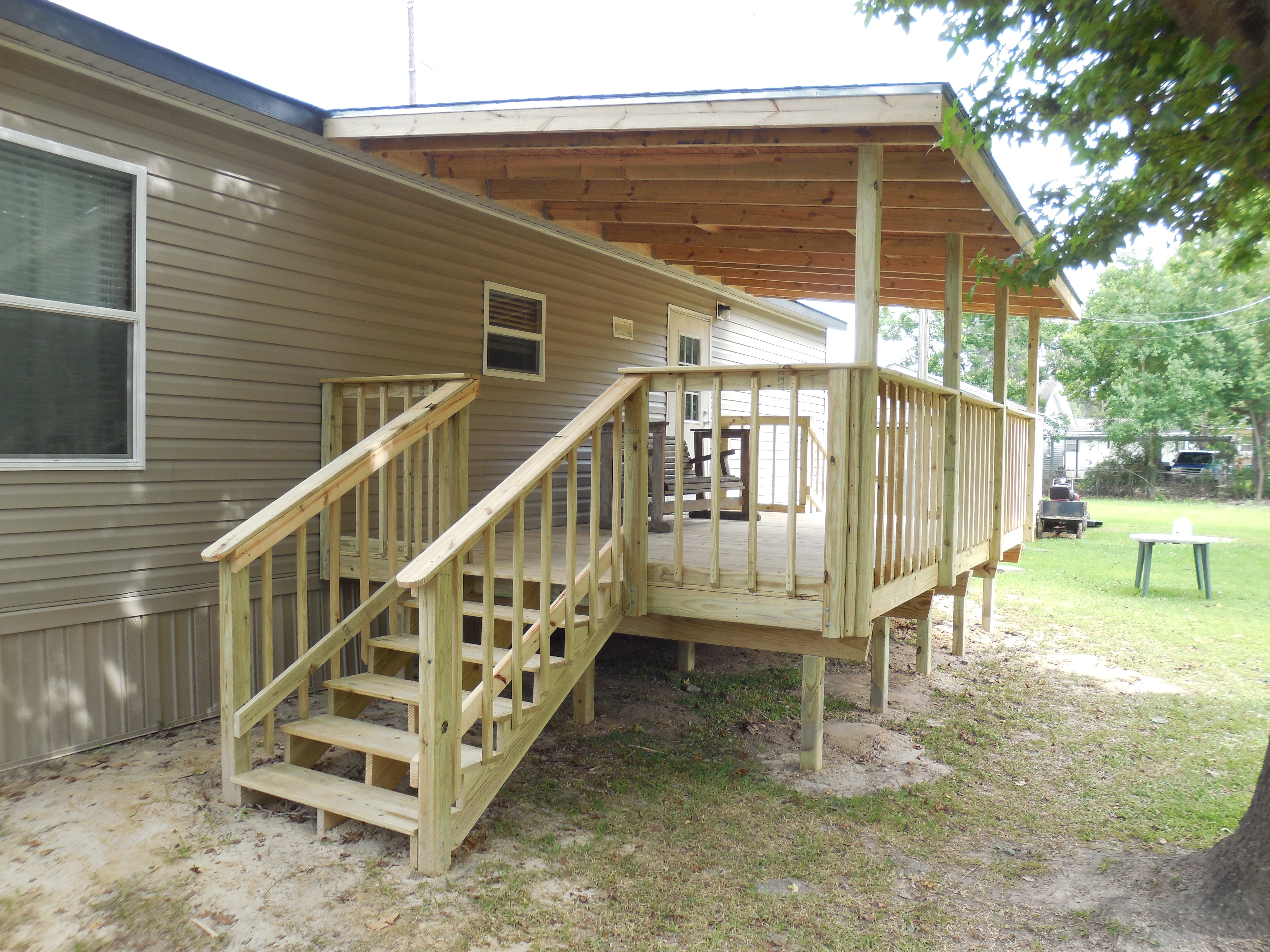 Raised Deck (Stairs and Hand Rails)
