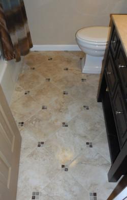Diagonal Tile Floor (w/Insets)