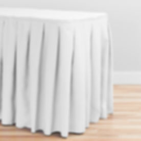 Pleat Polyester Table skirt