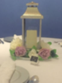 Lantern with pillar candle