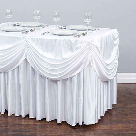 8-ft.-Drape-Chiffon-All-in-1 Tablecloth/ table skirt