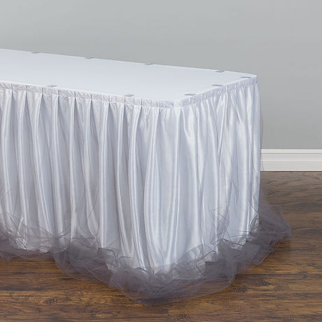 2 tone Tulle chiffon table skirt