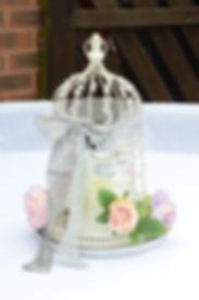 tea-light birdcage centerpiece