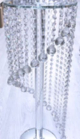 table crystal chandelier centrepiece