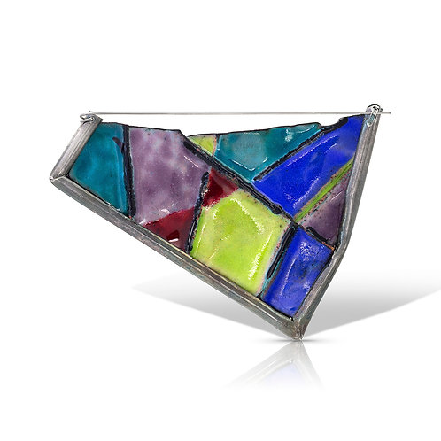 Reversible trapezoid brooch