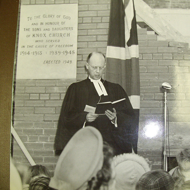 1949 Knox Hall Cornerstone Unveiling