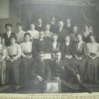 1908 Sunday School Staff