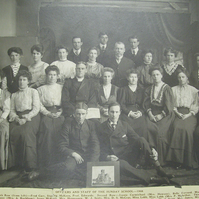 1908 Sunday School Staff