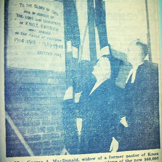 1949 Newspaper Clipping re. Knox Hall Cornerstone
