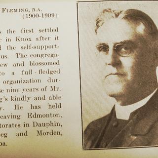 1909 Reverend Fleming