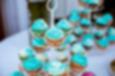Wedding photography of cupcakes