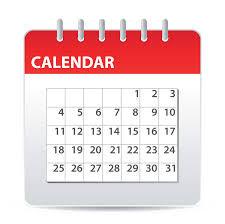 Dates des cours 2020-2021