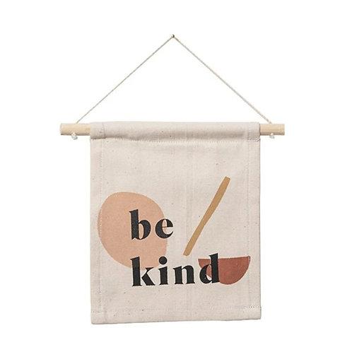 Be Kind Abstract Hang Banner