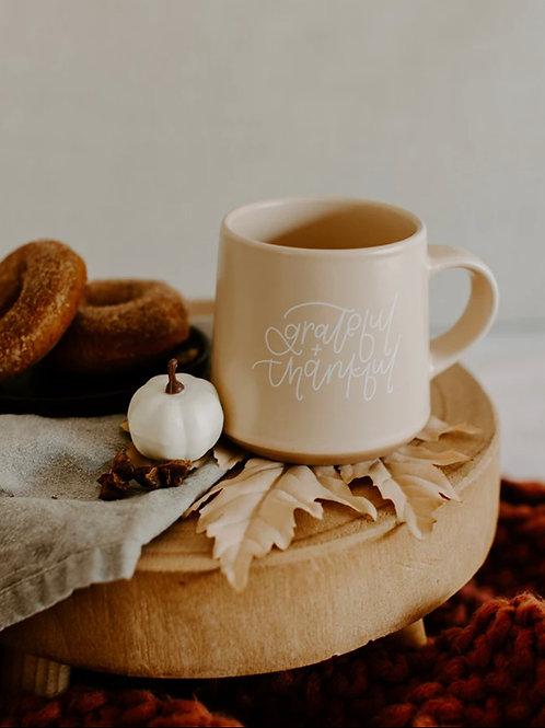Grateful + Thankful Mug