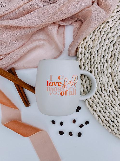 I Love Fall Mug