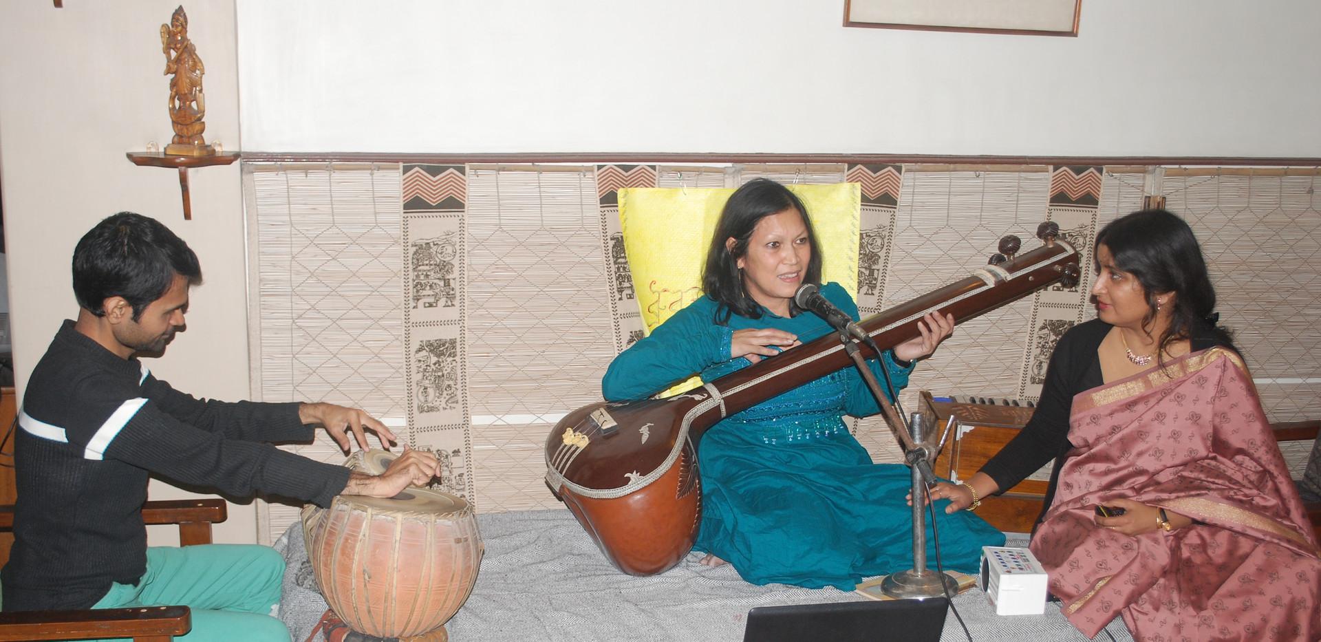 Huisconcert Indiase zang Kolkata