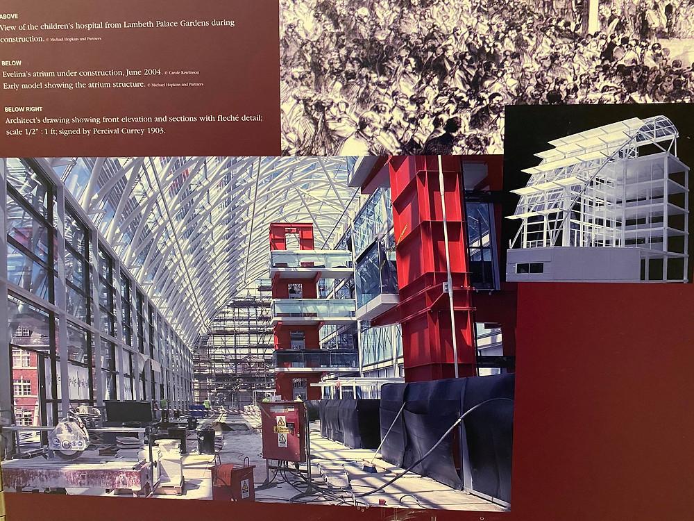 evelina, architecture, construction, plan, paediatrics, hospital, management