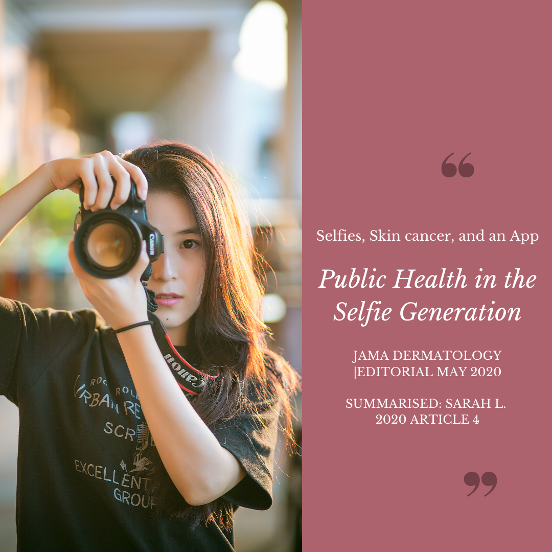 public health, selfie, skin cancer, app, medical, medical students, high school, jama, dermatology, research
