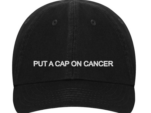 """Put a Cap on Cancer"" embroidered hat"