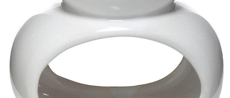 "Geurbrander - Luxe Oval ""Wit""."