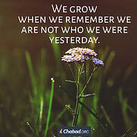 We grow when we remember