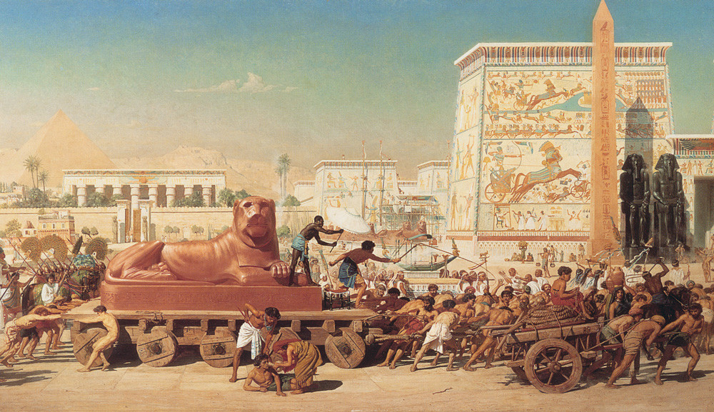 Hebrew Slaves in Egypt moving the Sphinx