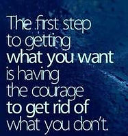firist step to courage