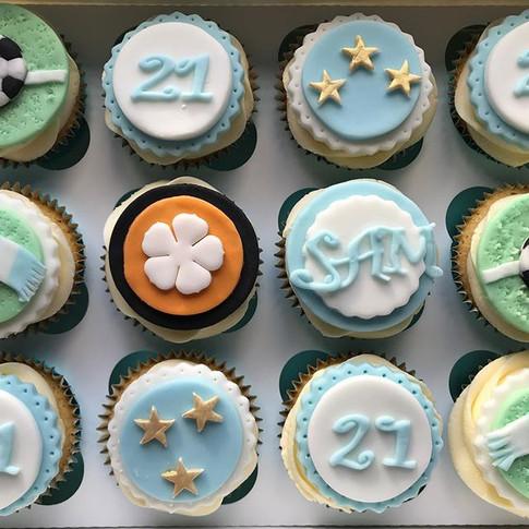 21st birthday cupcakes