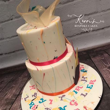 Art inspired Cake for Clarendon Fine Art Gallery Hale
