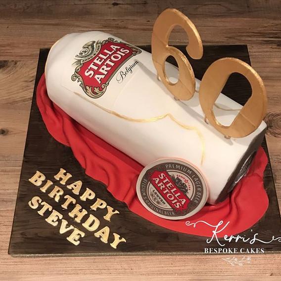 Stella artois can cake