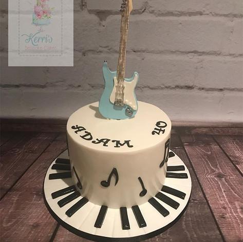 Guitar music cake