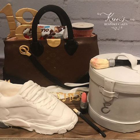 Handbag shoe cake