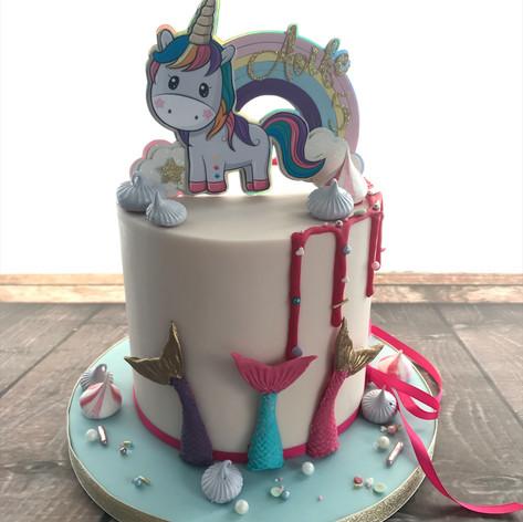 unicorn mermaid rainbow cake.jpeg