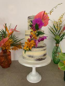 Tropical semi naked cake