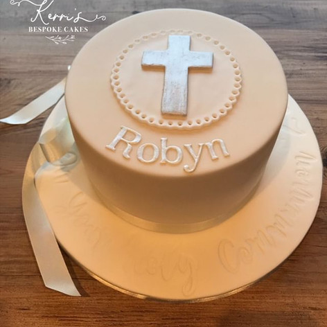 Classic First Holy Communion cake