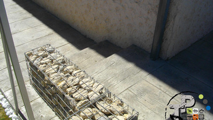 CREATION D'UN ESCALIER EN GABION.