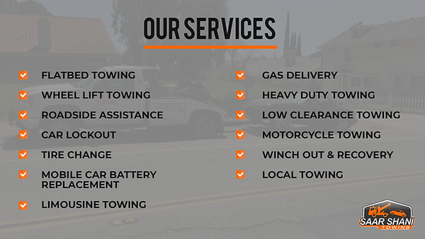 Our Services - Saar Shani Towing