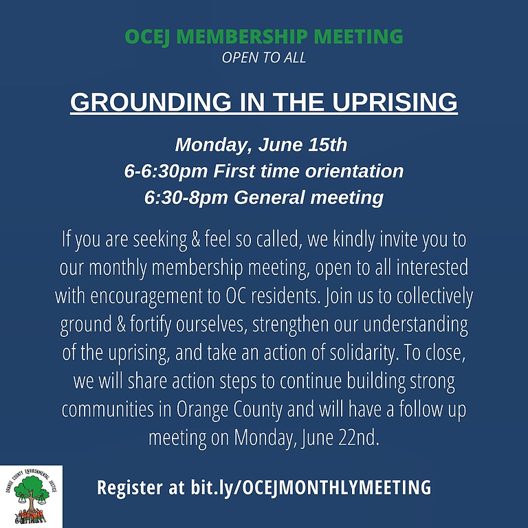 June 15th Membership Meeting
