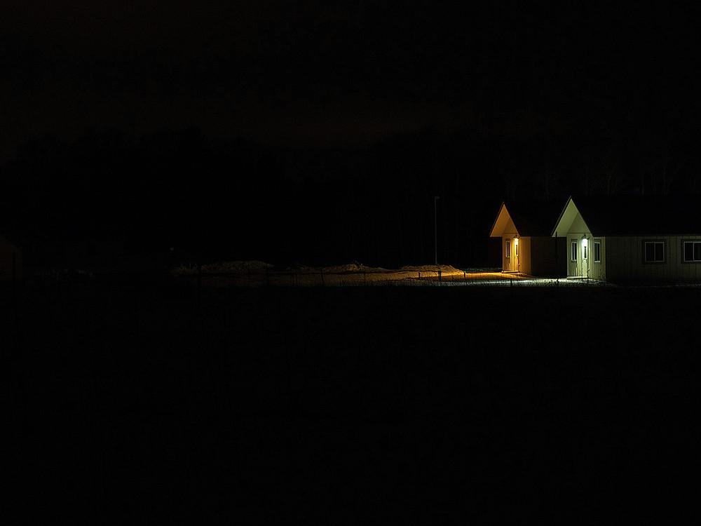 Lindeman Hall, Cedar Creek ESR, Winter Night, 2019, Archival Pigment Print, 30 x 40 inches Meuschke Landscape Photography