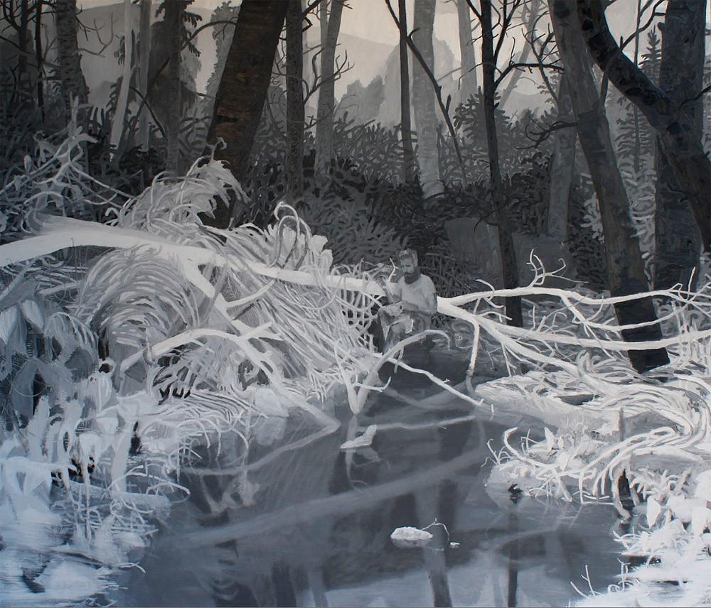Big Mingo Gap, Oil on Canvas, 48 in x 56 in, 2013 noderer landscape painting