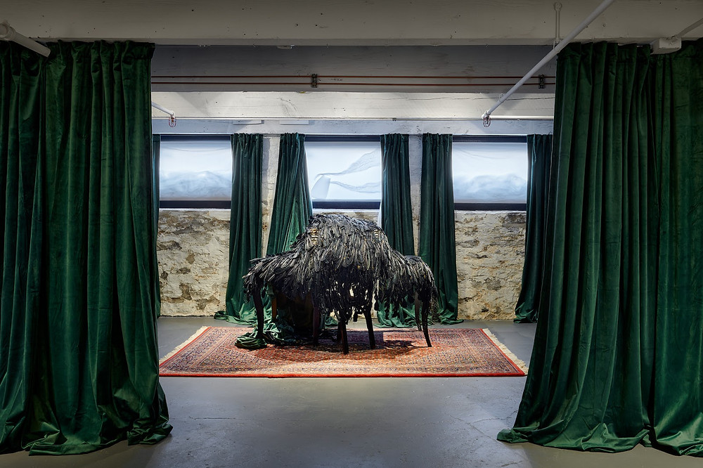 """""""Space Without a Map,"""" part of the exhibition """"At this Point...Three Spaces for Contemplation"""" at New Studio Gallery, St. Paul, Oct 10 - Nov 21 Photo by Peter von De Linde"""